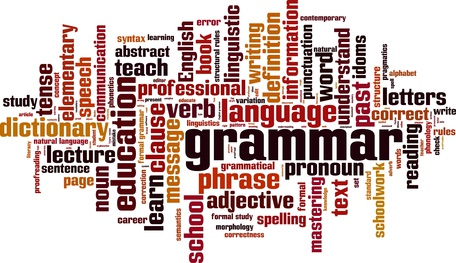 Grammar word cloud concept. Vector illustration